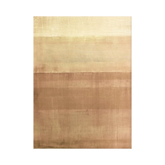 'Cabin Fever' Brown Abstract Art Canvas Print