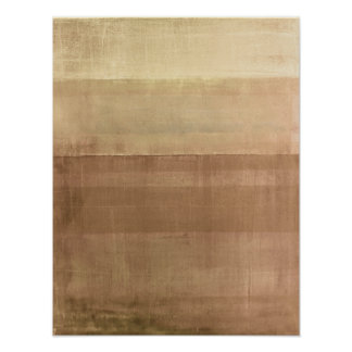 'Cabin Fever' Brown Abstract Art Poster