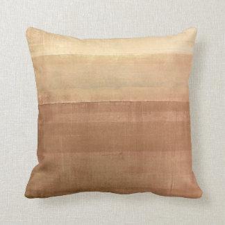 'Cabin Fever' Brown Abstract Art Throw Pillow