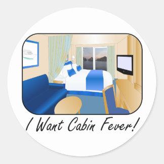 Cabin Fever Classic Round Sticker