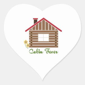 Cabin Fever Heart Sticker