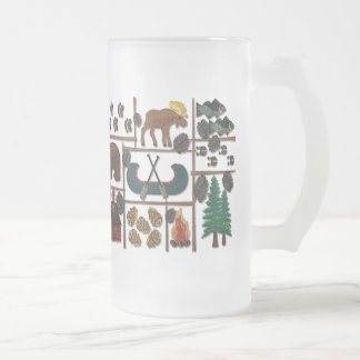 Cabin Fever Longing for the Lodge Frosted Glass Beer Mug
