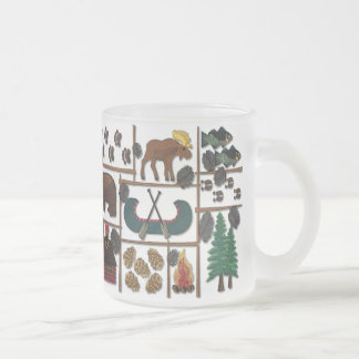 Cabin Fever  Longing for the Lodge 10 Oz Frosted Glass Coffee Mug