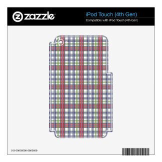 Cabin Fever Plaid iPod Touch 4G Decals