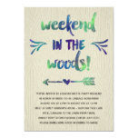 Cabin Fever | Rustic Bachelorette Party 5x7 Paper Invitation Card