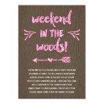 Cabin Fever | Rustic Chic Bachelorette Party 5x7 Paper Invitation Card