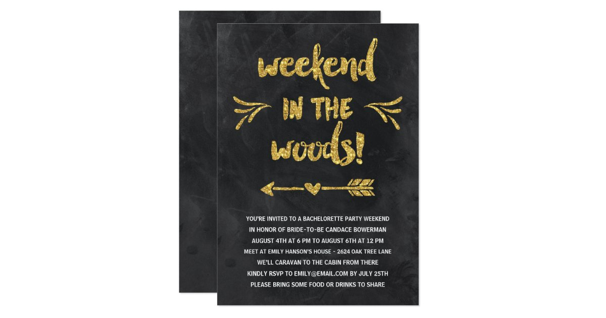 Cabin fever rustic chic bachelorette party card zazzle for Cabin bachelor party