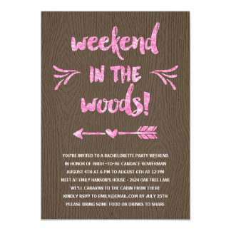 Cabin Fever | Rustic Chic Bachelorette Party Card