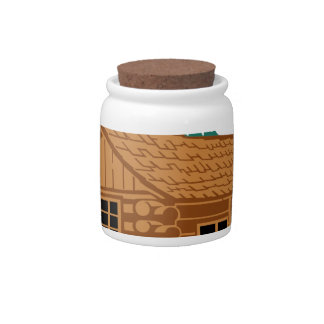 Cabin House Candy Jar