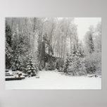 Cabin in Snowfall Poster