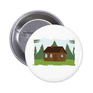 Cabin in the Trees 2 Inch Round Button