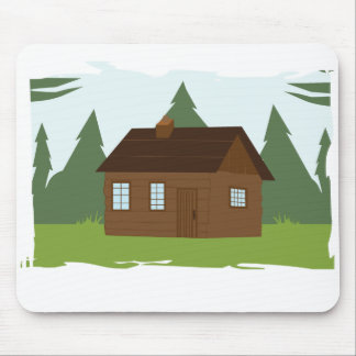 Cabin in the Trees Mouse Pad