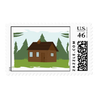 Cabin in the Trees Postage Stamps