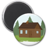 Cabin in the Trees Refrigerator Magnets