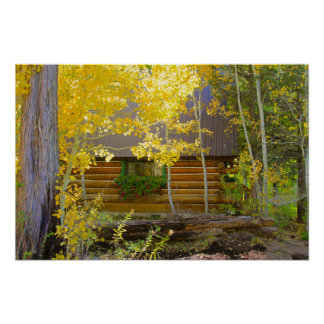 Cabin in the Woods, Autumn Poster