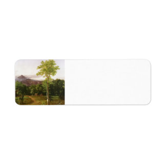 Cabin in the Woods, New Hampshire by Thomas Cole Custom Return Address Label