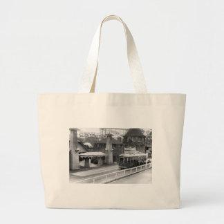 Cabin John Streetcar, 1930s Large Tote Bag