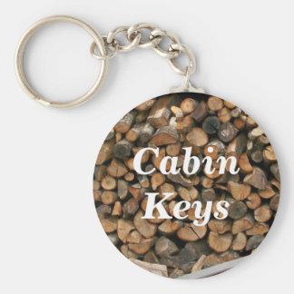 Cabin Keys Firewood Logs Trees Keychain