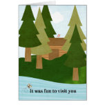Cabin-Lake Visit-Thank You for Hospitality Card