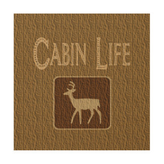 Cabin Wall Art cabin wood wall art | zazzle