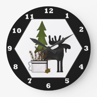 Cabin Moose Mix match wall clock