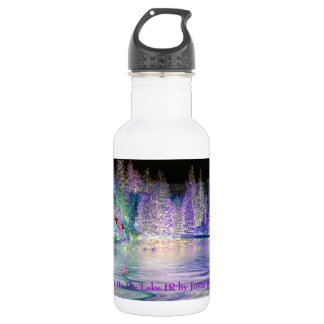 Cabin On The Lake IR Stainless Steel Water Bottle
