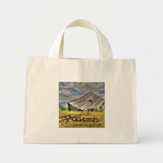 Cabin on the Skids; Yukon Territory Souvenir Mini Tote Bag
