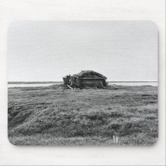 Cabin on tundra mouse pad