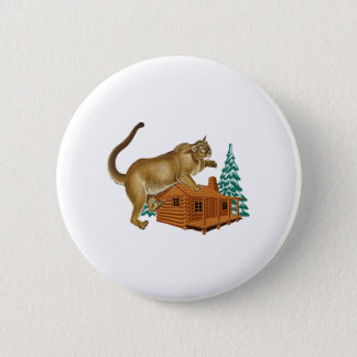 Cabin Pounce Pinback Button