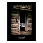 Cabin Quilt Black Border Posters
