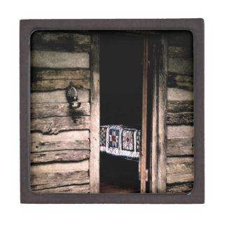 Cabin Quilt Keepsake Box