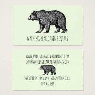Cabin Rentals Business Cards