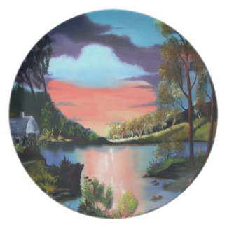 Cabin Retreat Collectors Plate