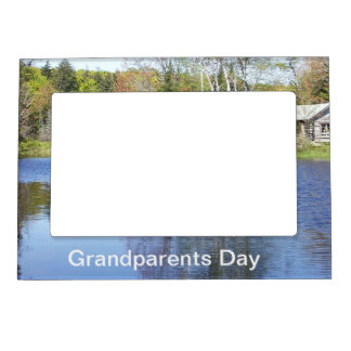 Cabin Scene for Grandparents on Their Day Photo Frame Magnet