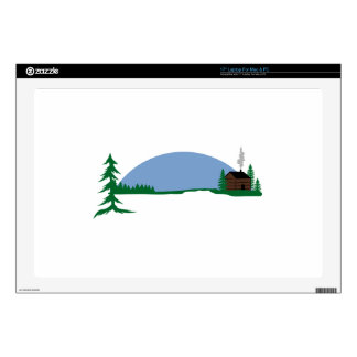 """Cabin Scene Decal For 17"""" Laptop"""