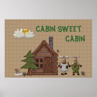 Cabin Sweet Cabin Poster