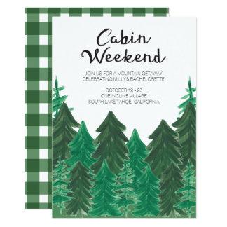 Cabin Weekend Invitation - Bachelorette Weekend