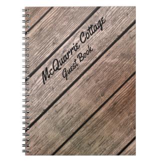 Cabina de la cabaña o libro de visitas del barco cuaderno