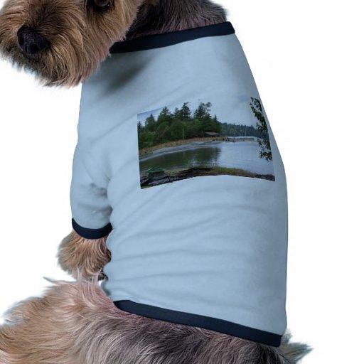 Cabina de la costa camiseta con mangas para perro