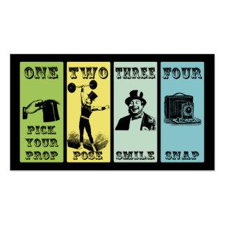 Cabina de la foto tarjetas de visita