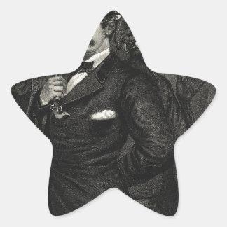 Cabina de la tentación de Satan al asesinato del Pegatina En Forma De Estrella