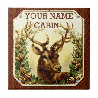 Cabina de los ciervos personalizada con el grano azulejo cuadrado pequeño