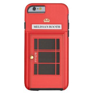 Cabina de teléfono británica de Oldschool Funda De iPhone 6 Tough