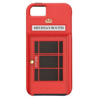 Cabina de teléfono británica de Oldschool iPhone 5 Case-Mate Coberturas