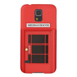 Cabina de teléfono británica personalizada de funda de galaxy s5