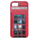 Cabina de teléfono británica roja de Londres iPhone 5 Case-Mate Cobertura