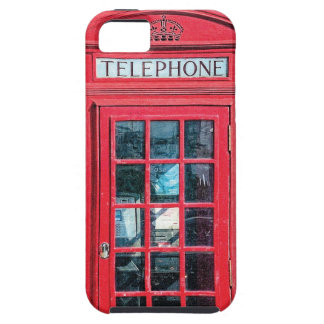 Cabina de teléfono británica roja de Londres Funda Para iPhone 5 Tough