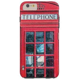 Cabina de teléfono británica roja de Londres Funda Para iPhone 6 Plus Tough