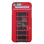 Cabina de teléfono de Briitish para el caso del Funda De iPhone 6 Barely There