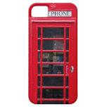 Cabina de teléfono de Briitish para la cubierta de iPhone 5 Case-Mate Protectores